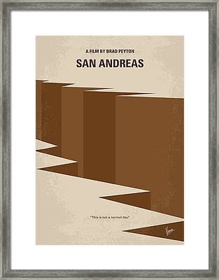 No810 My San Andreas Minimal Movie Poster Framed Print