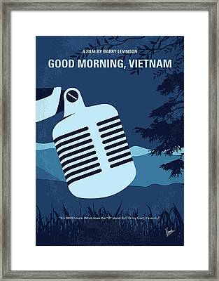No811 My Good Morning Vietnam Minimal Movie Poster Framed Print