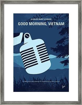No811 My Good Morning Vietnam Minimal Movie Poster Framed Print