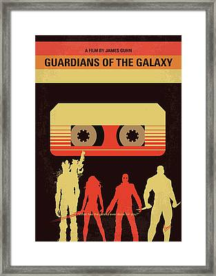 No812 My Guardians Of The Galaxy Minimal Movie Poster Framed Print