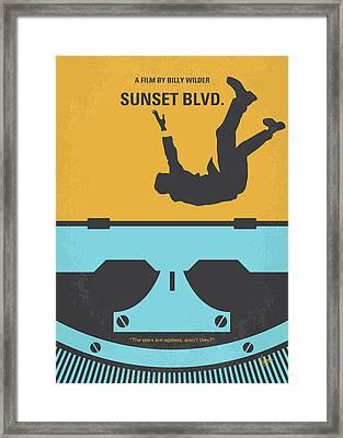 No813 My Sunset Blvd Minimal Movie Poster Framed Print