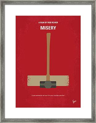 No814 My Misery Minimal Movie Poster Framed Print