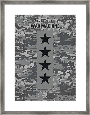 No817 My War Machine Minimal Movie Poster Framed Print