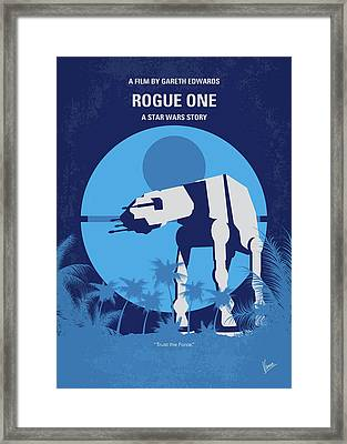 No819 My Rogue One Minimal Movie Poster Framed Print