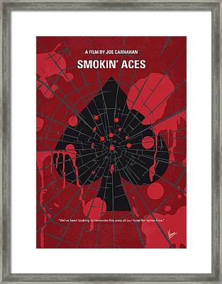 No820 My Smokin Aces Minimal Movie Poster Framed Print