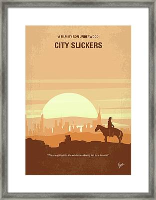 No821 My City Slickers Minimal Movie Poster Framed Print