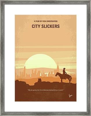 No821 My City Slickers Minimal Movie Poster Framed Print