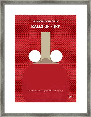 No822 My Balls Of Fury Minimal Movie Poster Framed Print