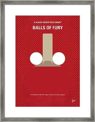 No822 My Balls Of Fury Minimal Movie Poster Framed Print
