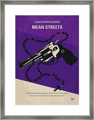 No823 My Mean Streets Minimal Movie Poster Framed Print