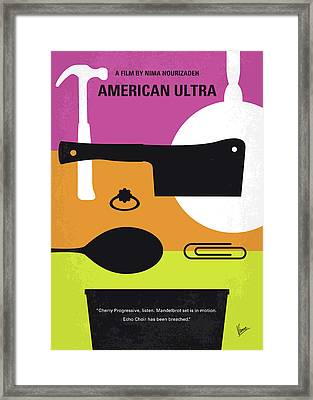 No827 My American Ultra Minimal Movie Poster Framed Print