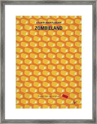 No829 My Zombieland Minimal Movie Poster Framed Print