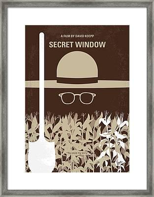 No830 My Secret Window Minimal Movie Poster Framed Print