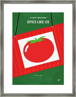 No831 My Spies Like Us Minimal Movie Poster Framed Print