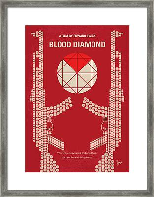 No833 My Blood Diamond Minimal Movie Poster Framed Print