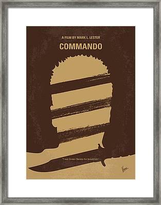 No834 My Commando Minimal Movie Poster Framed Print