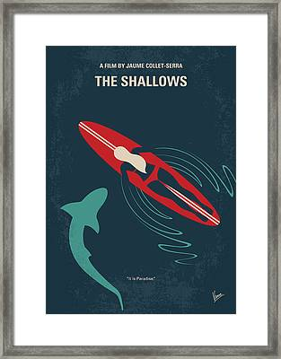 No836 My The Shallows Minimal Movie Poster Framed Print