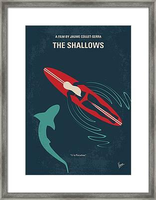 No836 My The Shallows Minimal Movie Poster Framed Print