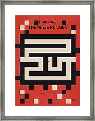 No837 My The Maze Runner Minimal Movie Poster Framed Print