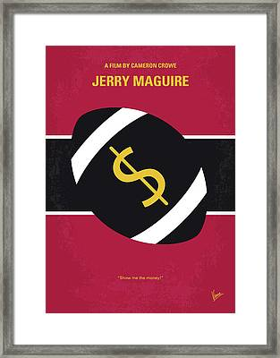 No838 My Jerry Maguire Minimal Movie Poster Framed Print
