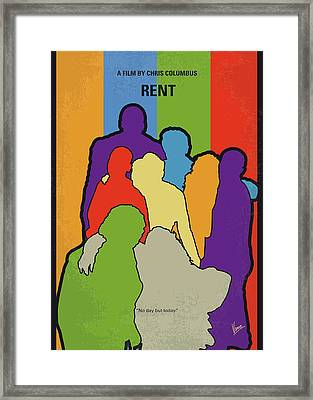 No842 My Rent Minimal Movie Poster Framed Print