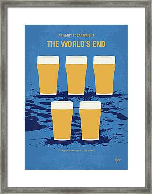 No843 My The Worlds End Minimal Movie Poster Framed Print