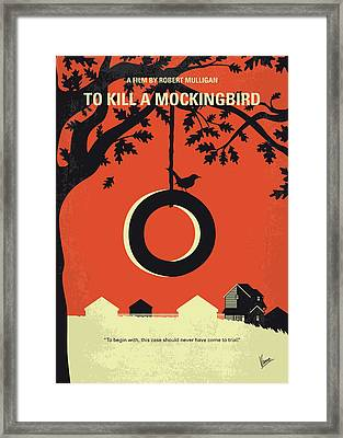 No844 My To Kill A Mockingbird Minimal Movie Poster Framed Print