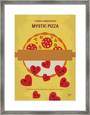 No846 My Mystic Pizza Minimal Movie Poster Framed Print