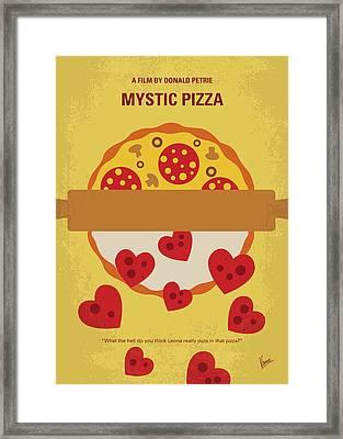 No846 My Mystic Pizza Minimal Movie Poster Framed Print