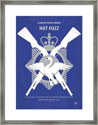 No847 My Hot Fuzz Minimal Movie Poster Framed Print