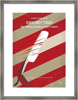 No849 My Sweeney Todd Minimal Movie Poster Framed Print