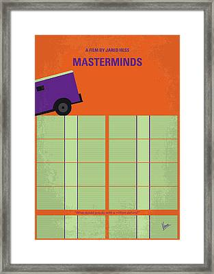 No851 My Masterminds Minimal Movie Poster Framed Print