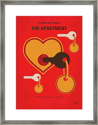 No853 My The Apartment Minimal Movie Poster Framed Print