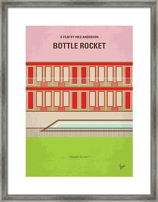 No855 My Bottle Rocket Minimal Movie Poster Framed Print
