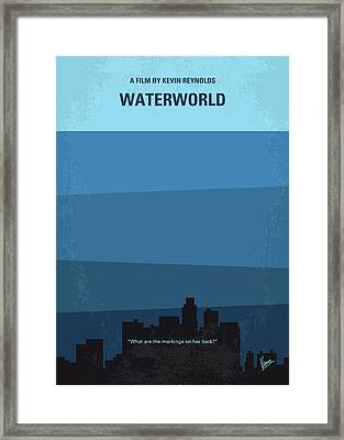 No857 My Waterworld Minimal Movie Poster Framed Print