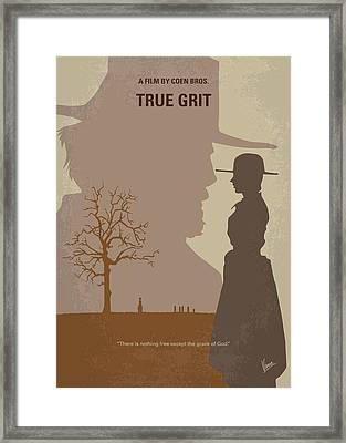 No860 My True Grit Minimal Movie Poster Framed Print