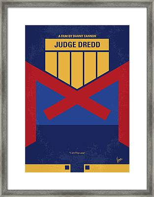 No861 My Dredd Minimal Movie Poster Framed Print