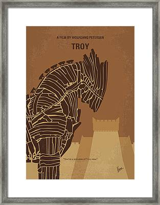 No862 My Troy Minimal Movie Poster Framed Print