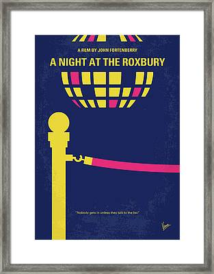No864 My A Night At The Roxbury Minimal Movie Poster Framed Print