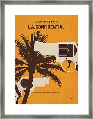 No866 My La Confidential Minimal Movie Poster Framed Print