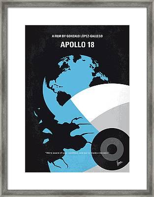 No873 My Apollo 18 Minimal Movie Poster Framed Print