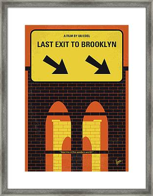 No879 My Last Exit To Brooklyn Minimal Movie Poster Framed Print