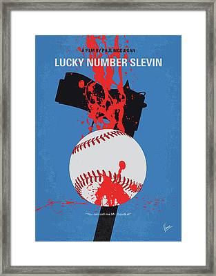 No880 My Lucky Number Slevin Minimal Movie Poster Framed Print