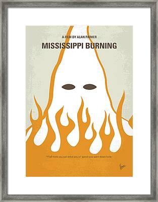 No882 My Mississippi Burning Minimal Movie Poster Framed Print