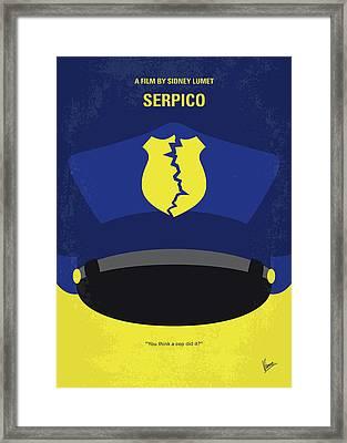 No891 My Serpico Minimal Movie Poster Framed Print