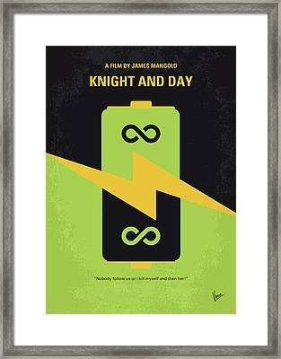 No899 My Knight And Day Minimal Movie Poster Framed Print