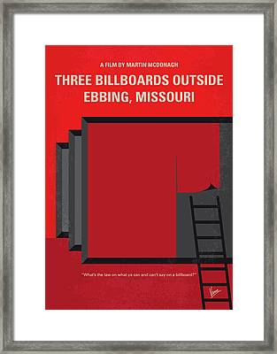 No900 My Three Billboards Minimal Movie Poster Framed Print