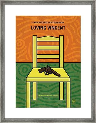 No903 My Vincent Minimal Movie Poster Framed Print