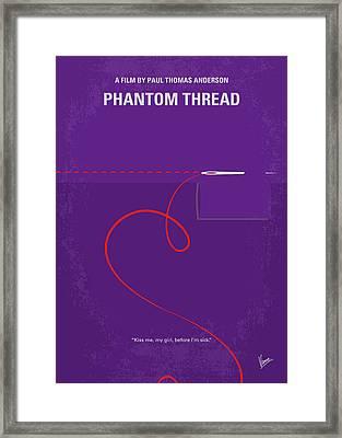 No904 My Phantom Thread Minimal Movie Poster Framed Print