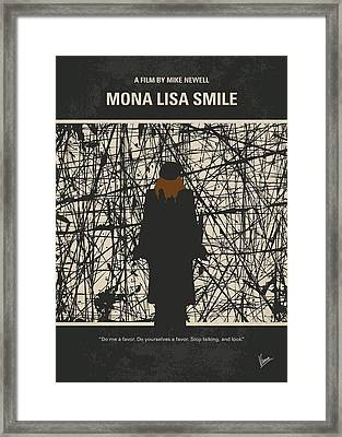 No914 My Mona Lisa Smile Minimal Movie Poster Framed Print